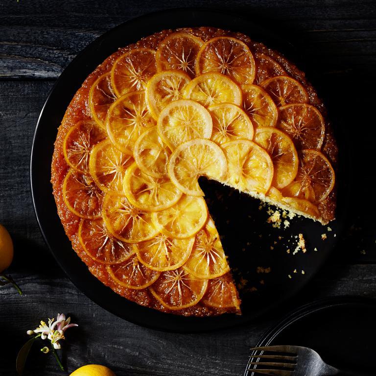 su-Meyer Lemon Cornmeal Upside-Down Cake Image