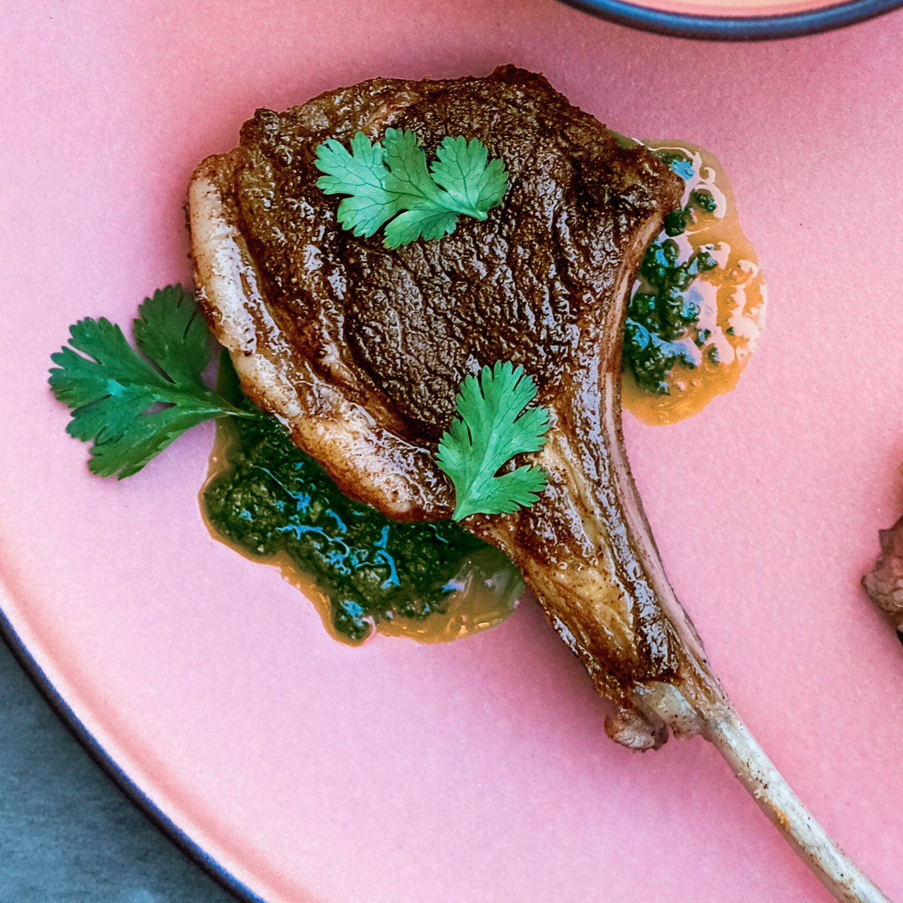 su- Moroccan Spiced Lamp Chops with Charmoula Image