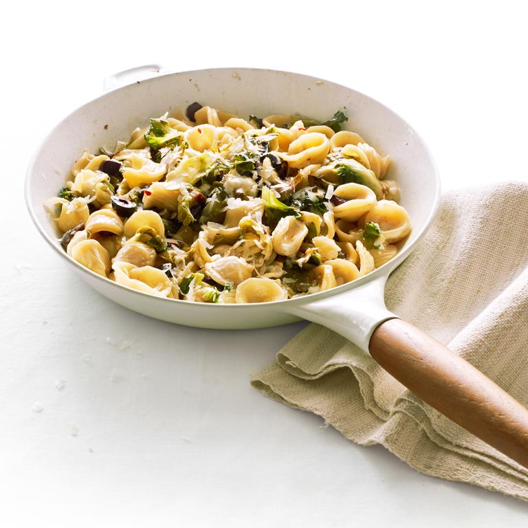 su-Orecchiette with Escarole, Capers, and Olives Image