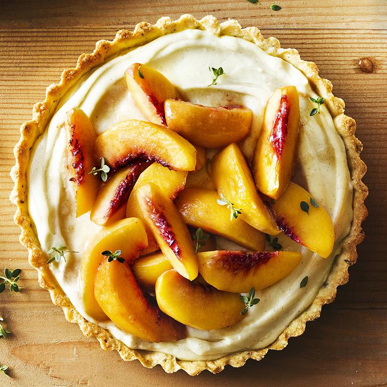 su-Brown Sugar Peach and Thyme Tart Image