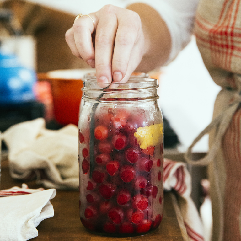 su-Pickled Cherries with Tarragon and Vanilla Image