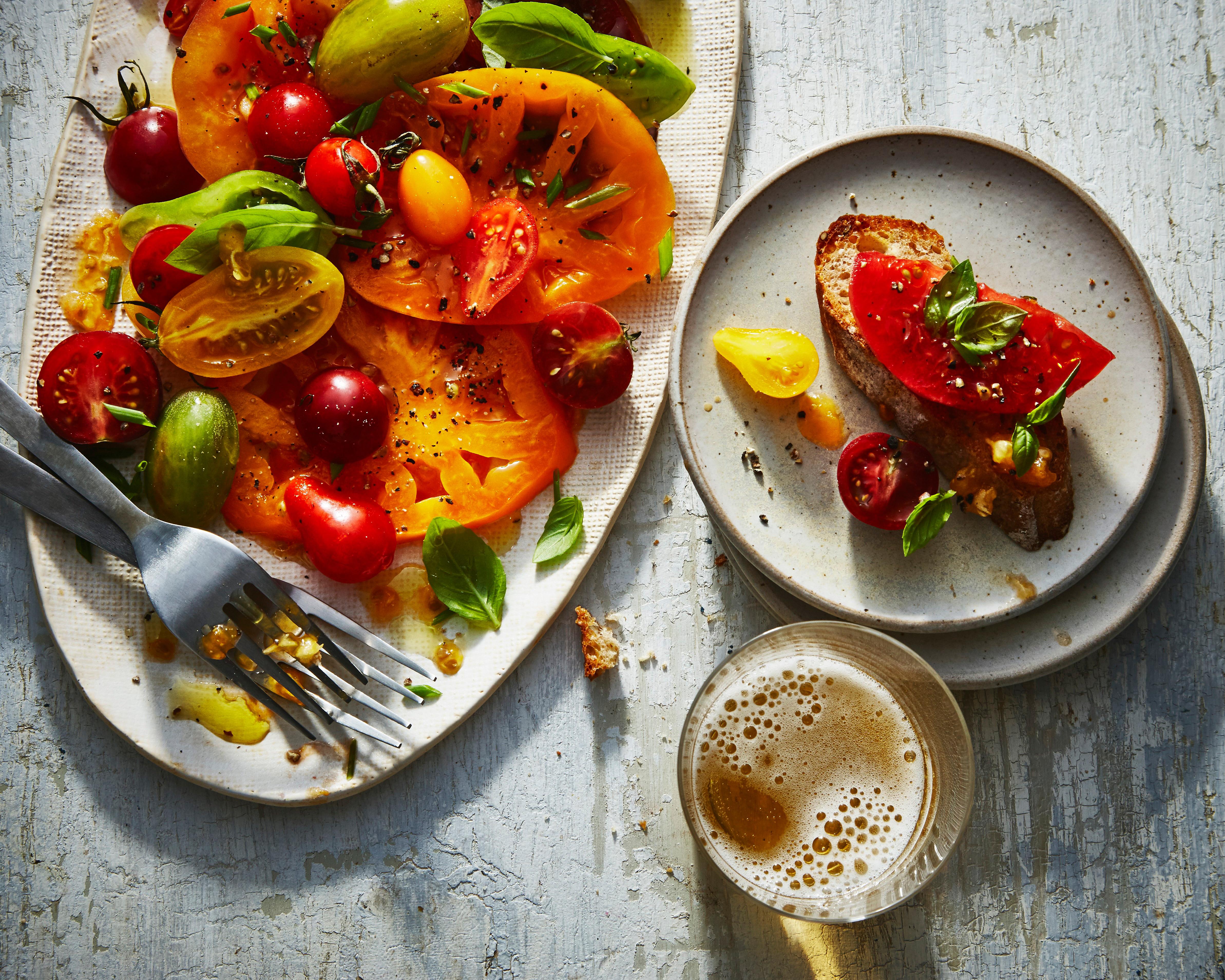 Rainbow Tomato Bruschetta