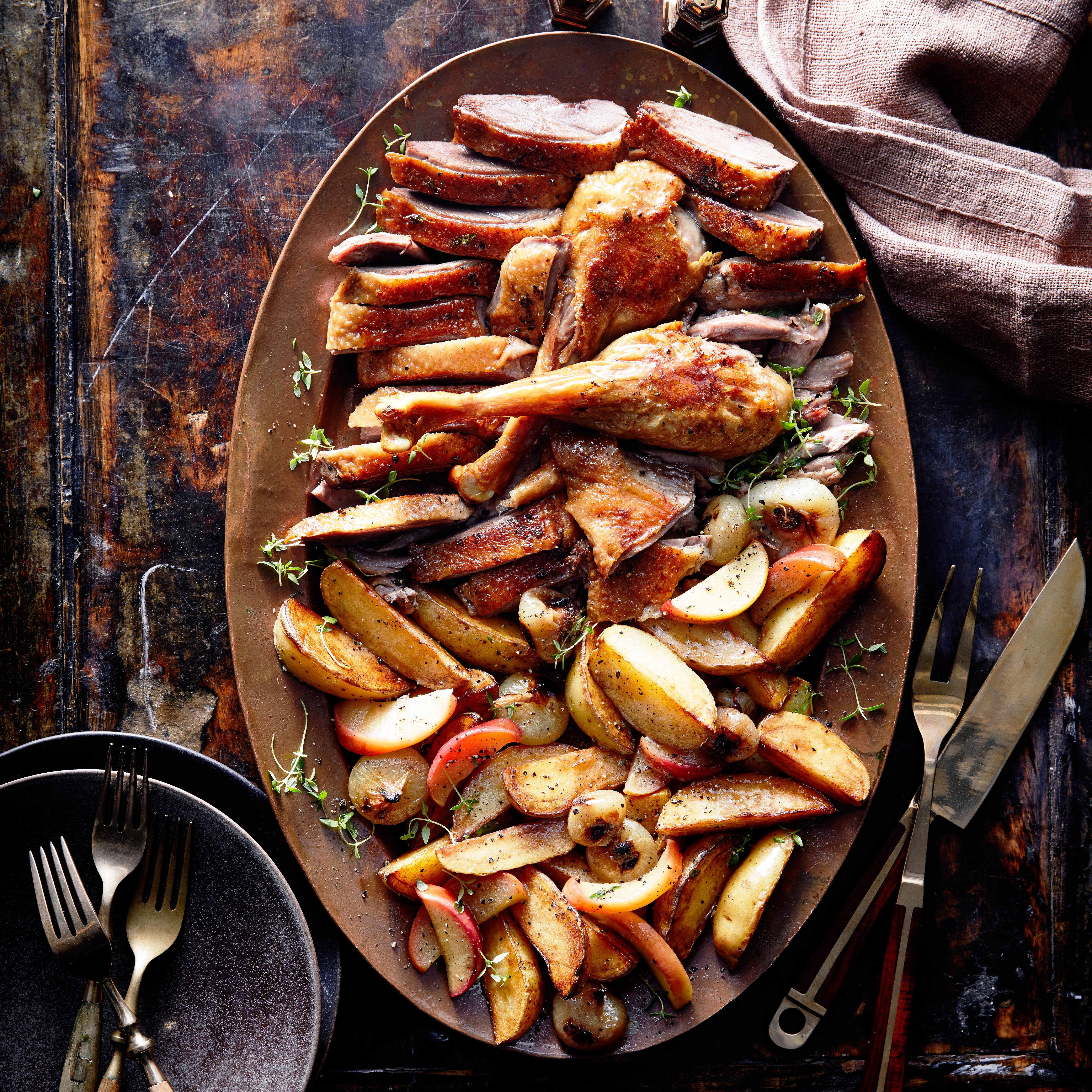 Goose with apples in the oven: recipe 39