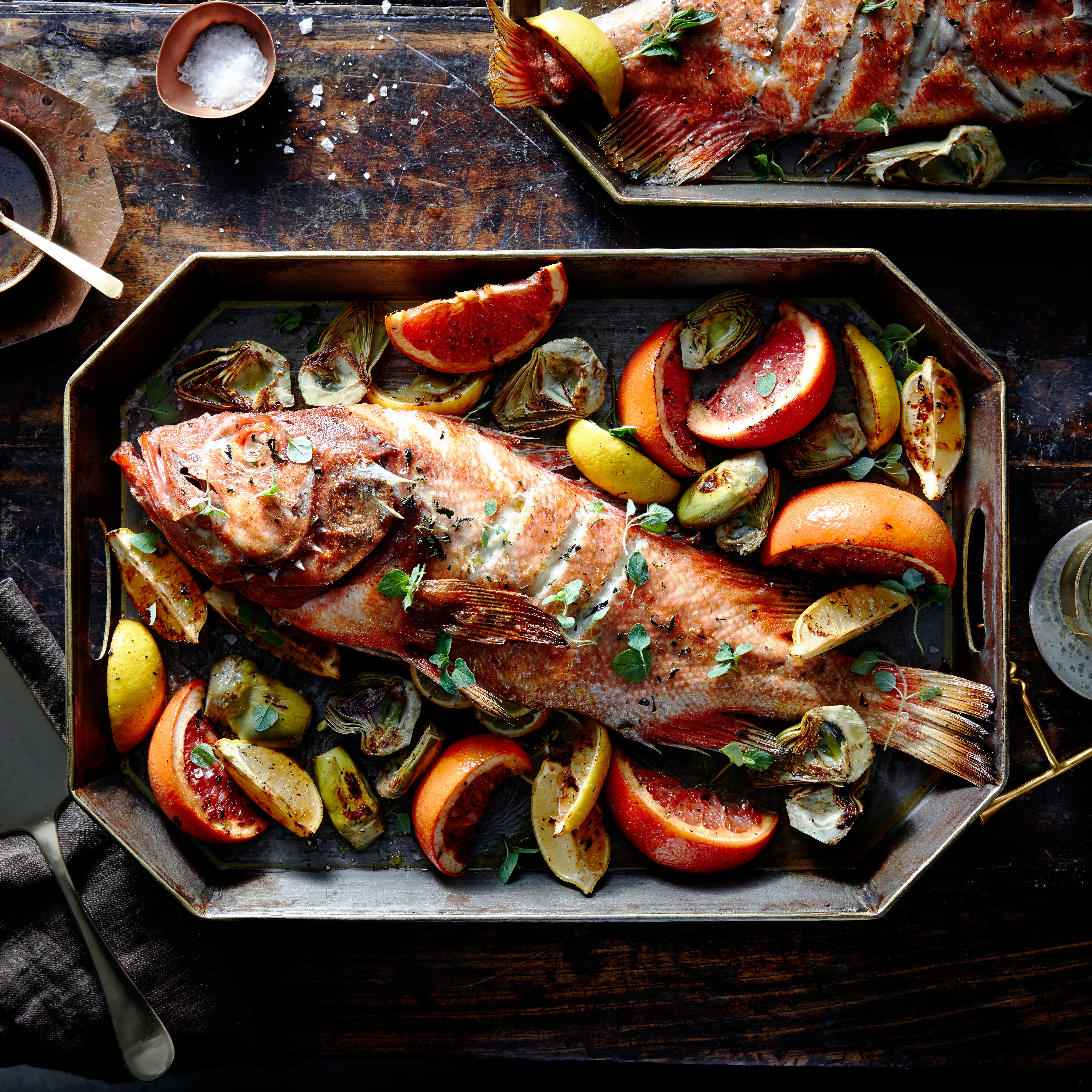 su-Rockfish with Artichokes, Citrus and Lemon-Capered Brown Butter Image