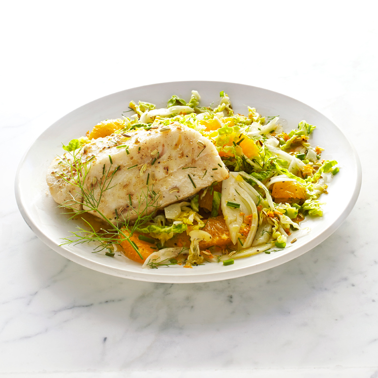 su-Sablefish with Savoy Cabbage and Fennel Slaw