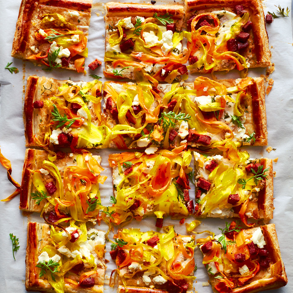su-Savory Carrot Ribbon Tart image