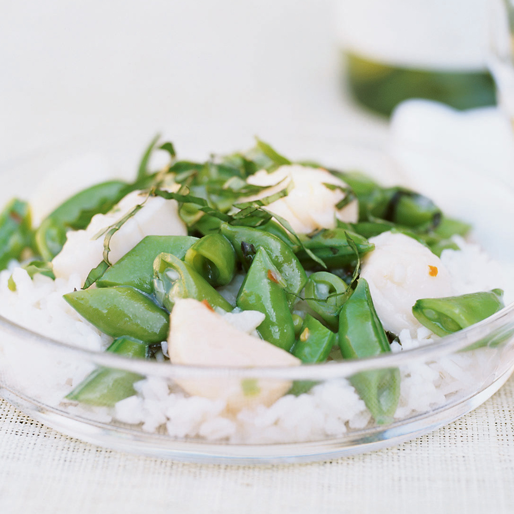 Scallop and Sugar Snap Pea Stir-Fry