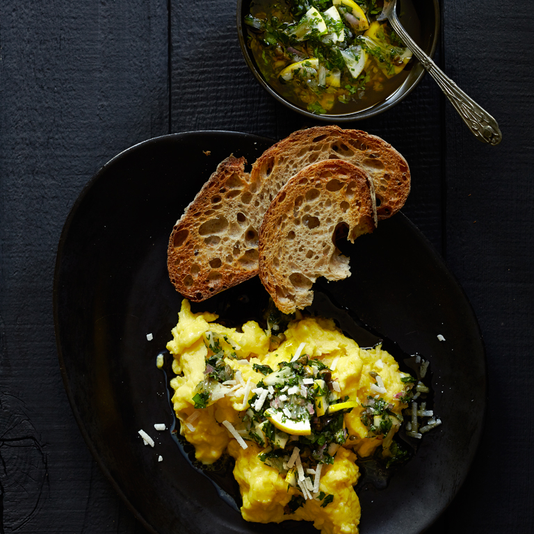 su-Scrambled Eggs with Meyer Lemon Salsa Verde Image