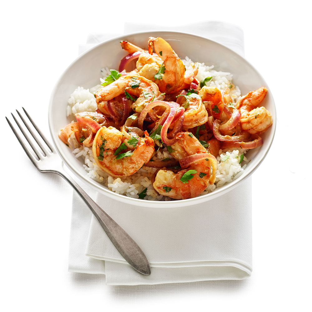 su-Shrimp and Spicy Mango Sauté Image