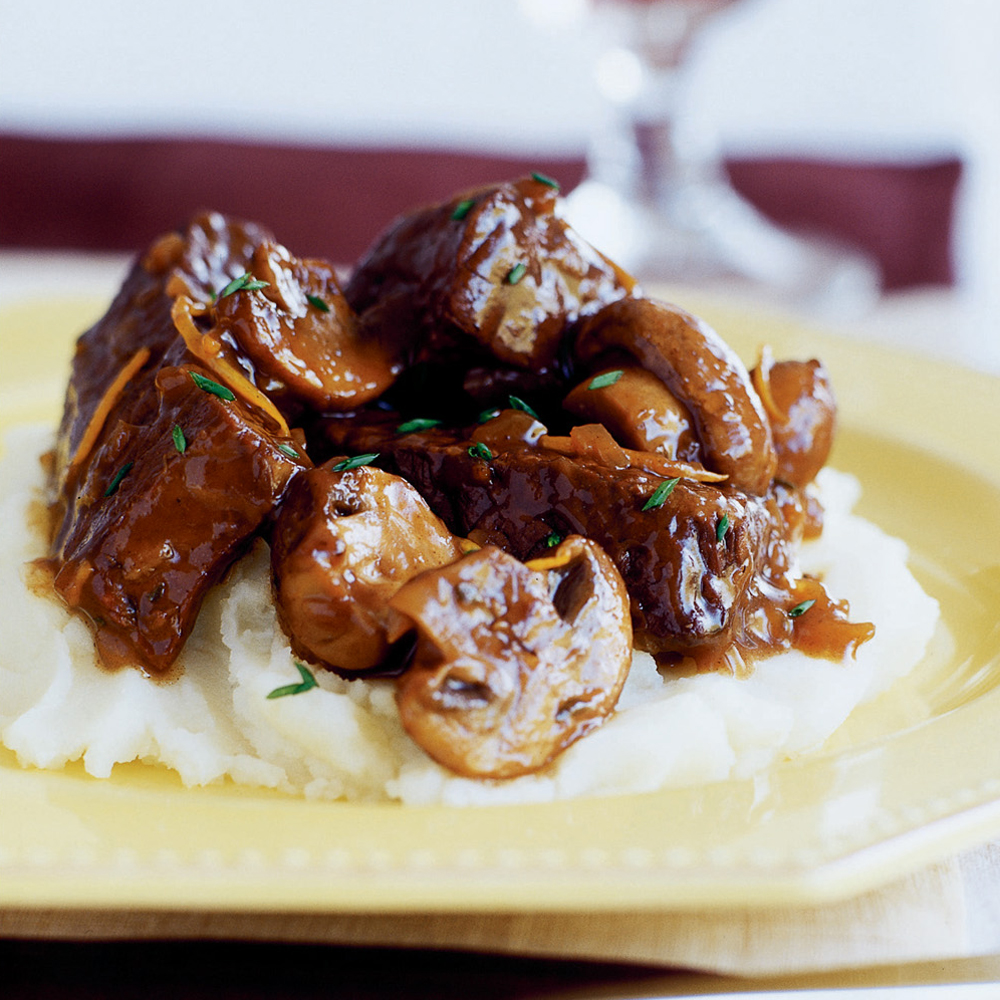 Slow Braised Beef Stew With Mushrooms Recipe Sunset Magazine