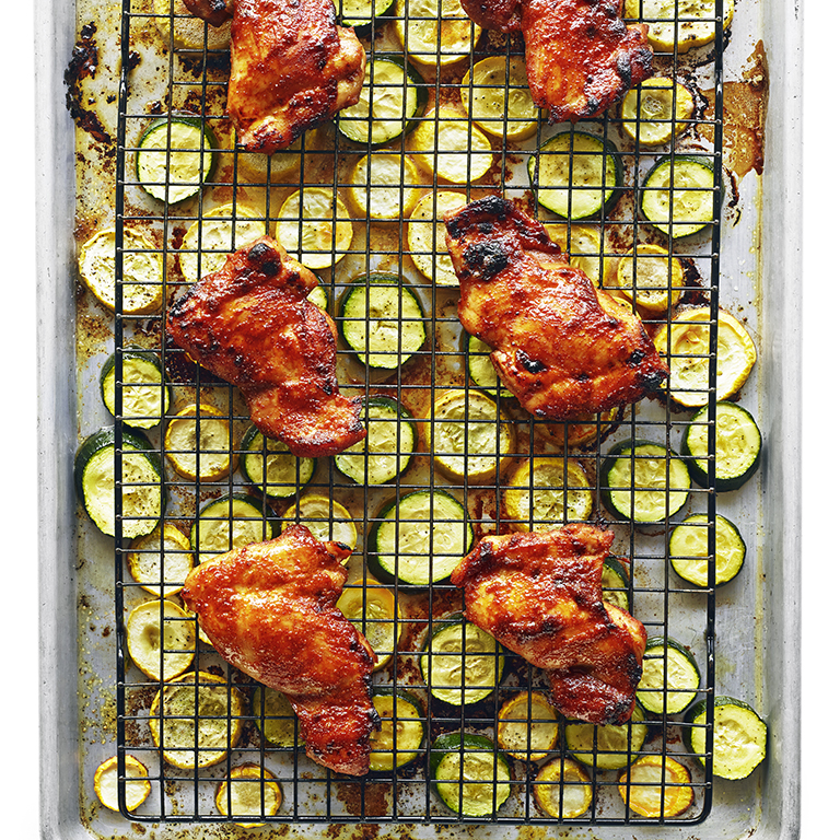 su-Spicy Chicken Thighs with Summer Squash Image
