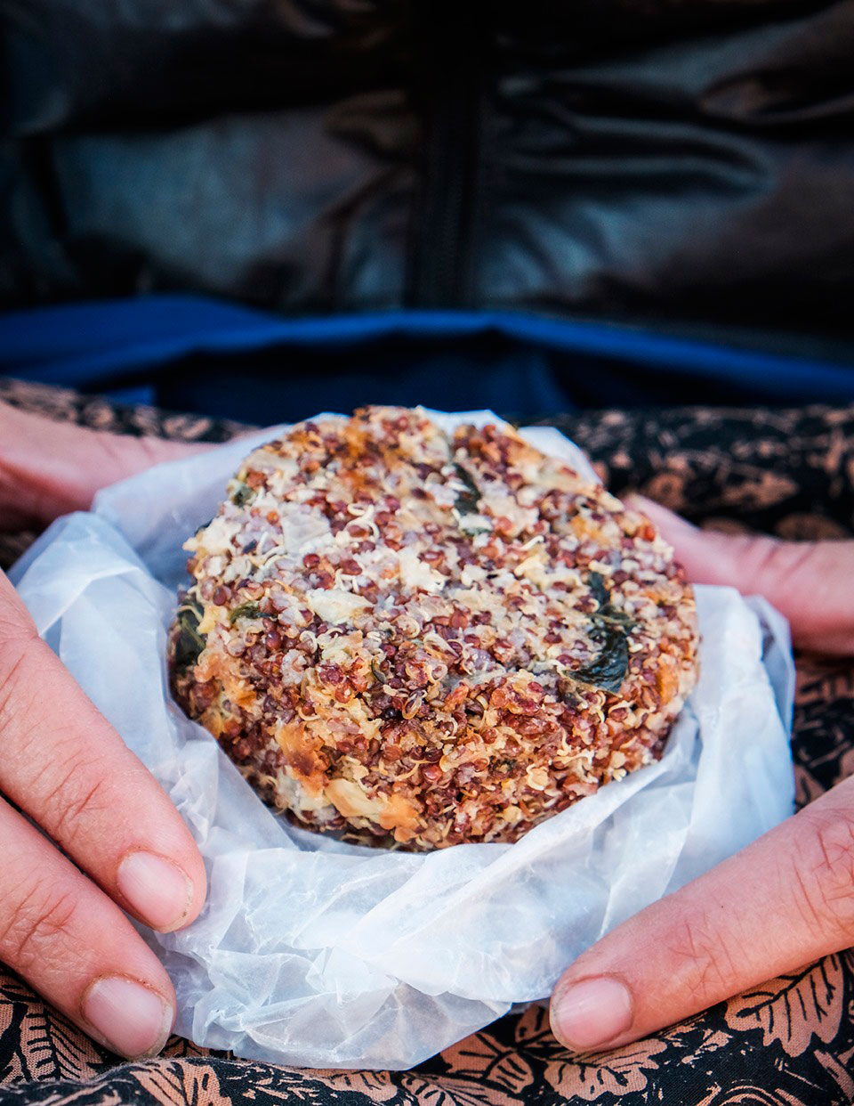 Spinach Artichoke Quinoa Cakes