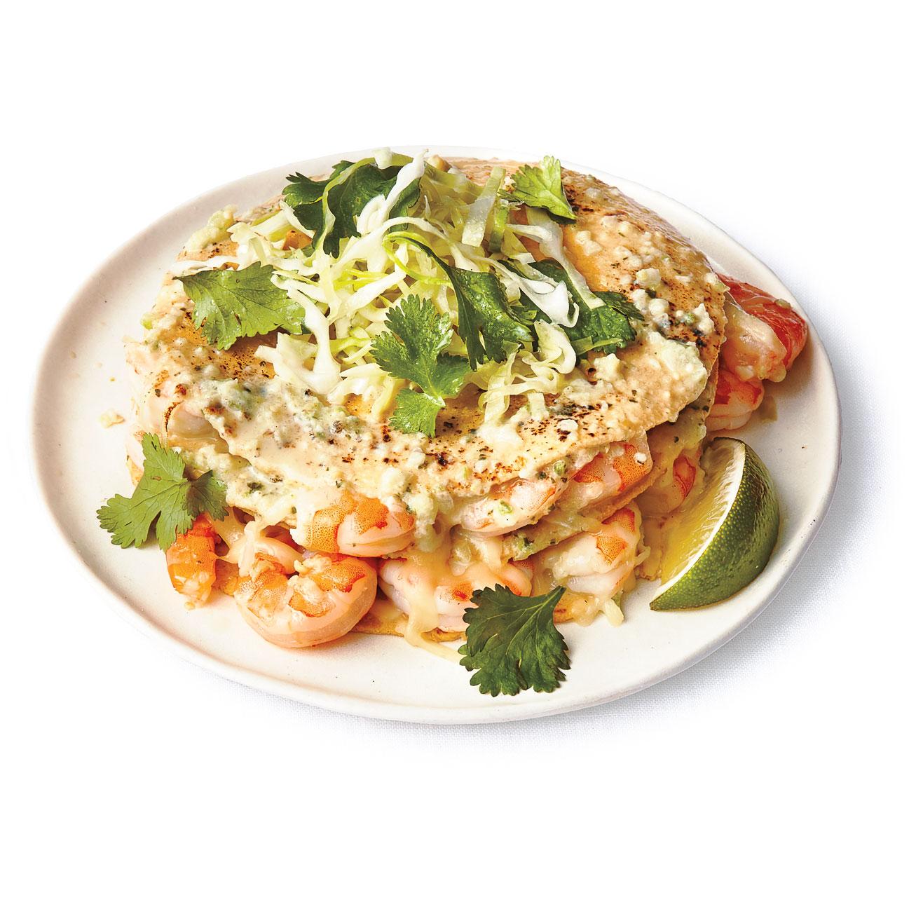 su-Stacked Shrimp Enchiladas Image