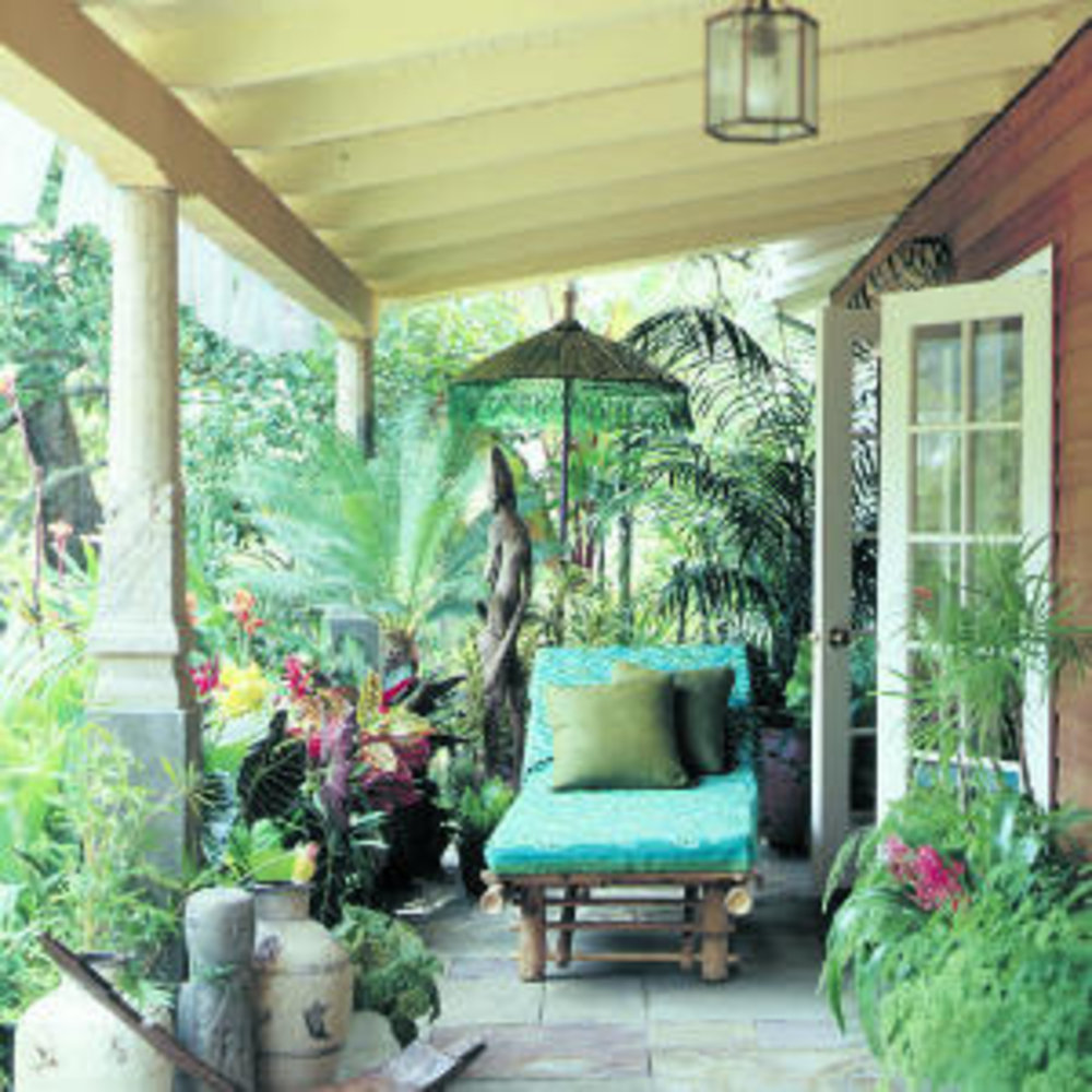 Make a porch a personal resort in the suburbs