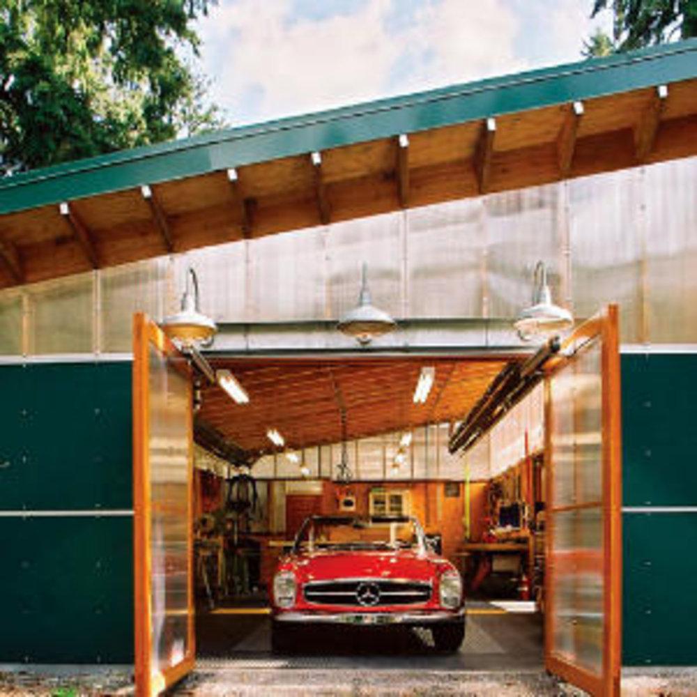 eco savvy garage sunset magazine. Black Bedroom Furniture Sets. Home Design Ideas