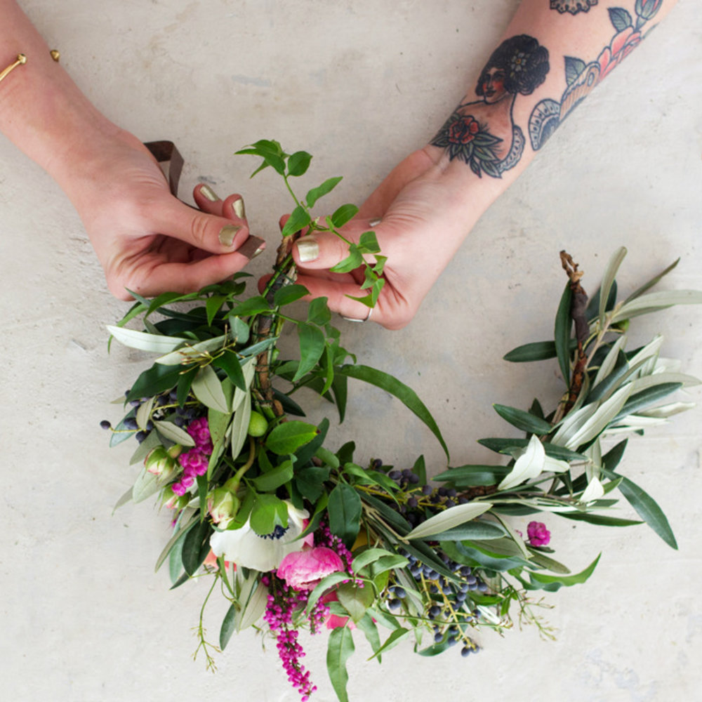 Step by step the ultimate diy flower crown sunset magazine add flowers izmirmasajfo Gallery