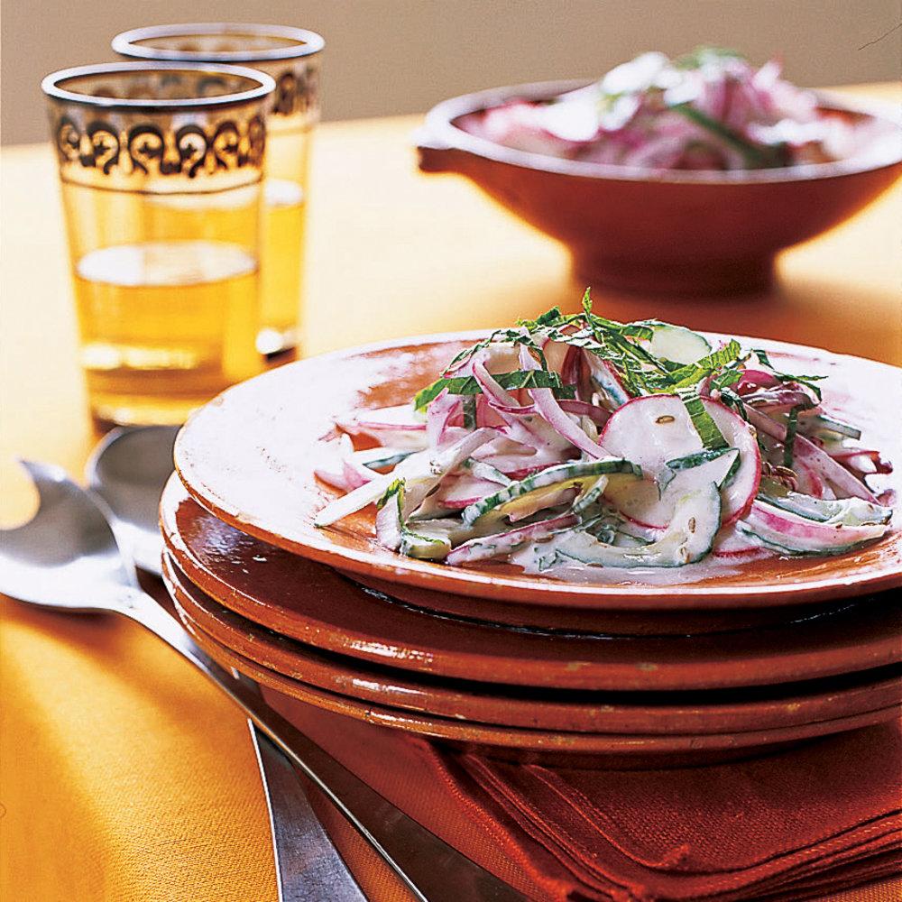 Indian spiced party menu sunset magazine cumin mint raita salad forumfinder Choice Image
