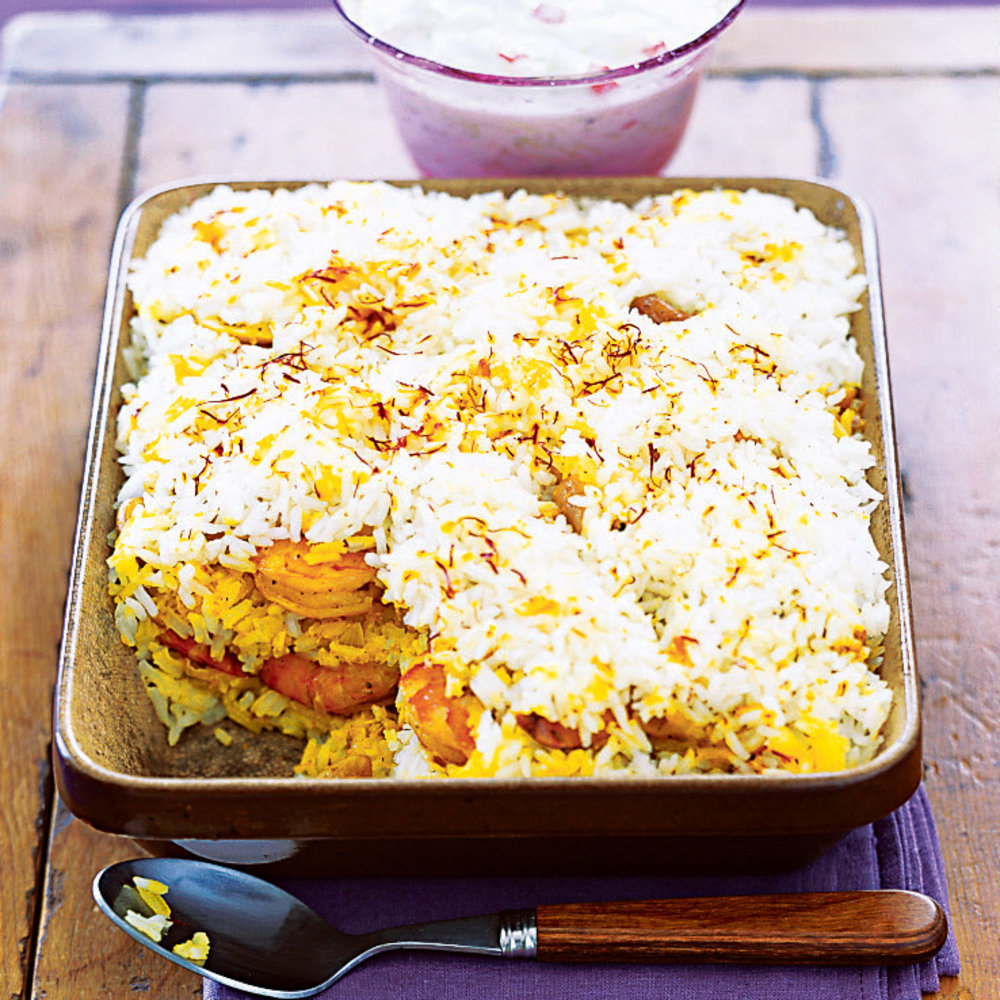 Indian spiced party menu sunset magazine shrimp biryani forumfinder Choice Image