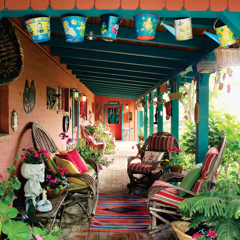South-of-the-border style patio