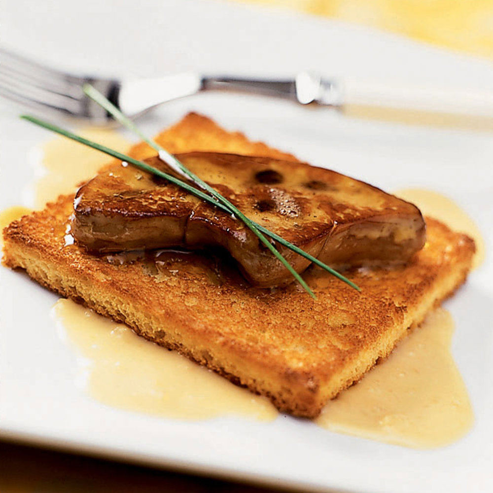 Seared Foie Gras with Ginger Cream