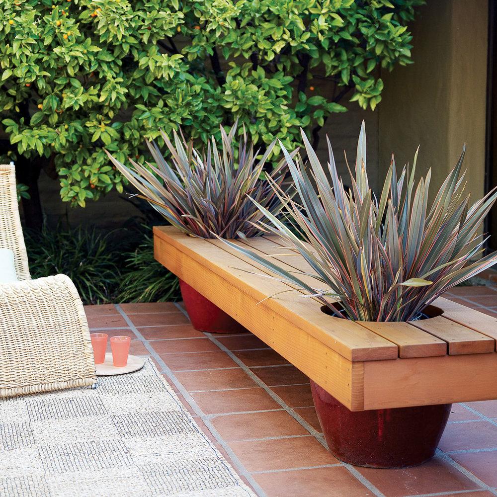 Outdoor Planter Bench Modern planter bench sunset magazine modern planter bench workwithnaturefo