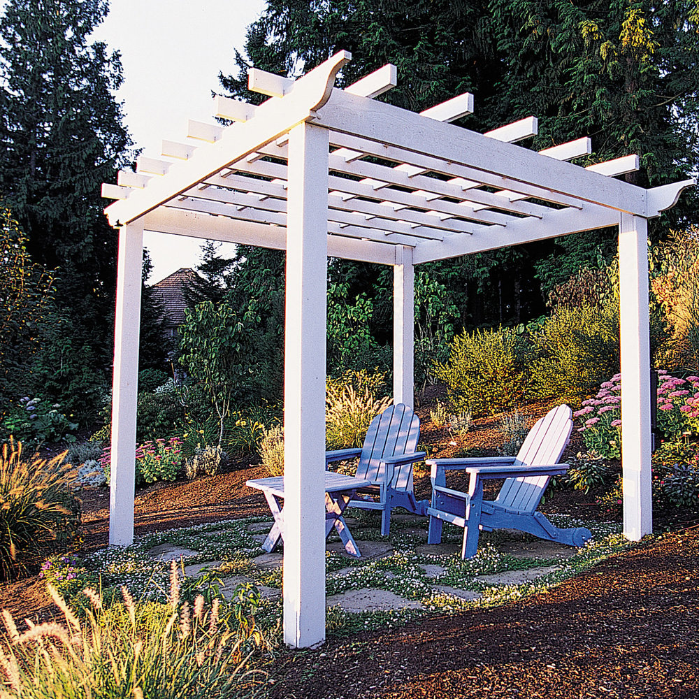 How to Build a Basic Square Pergola - Sunset Magazine