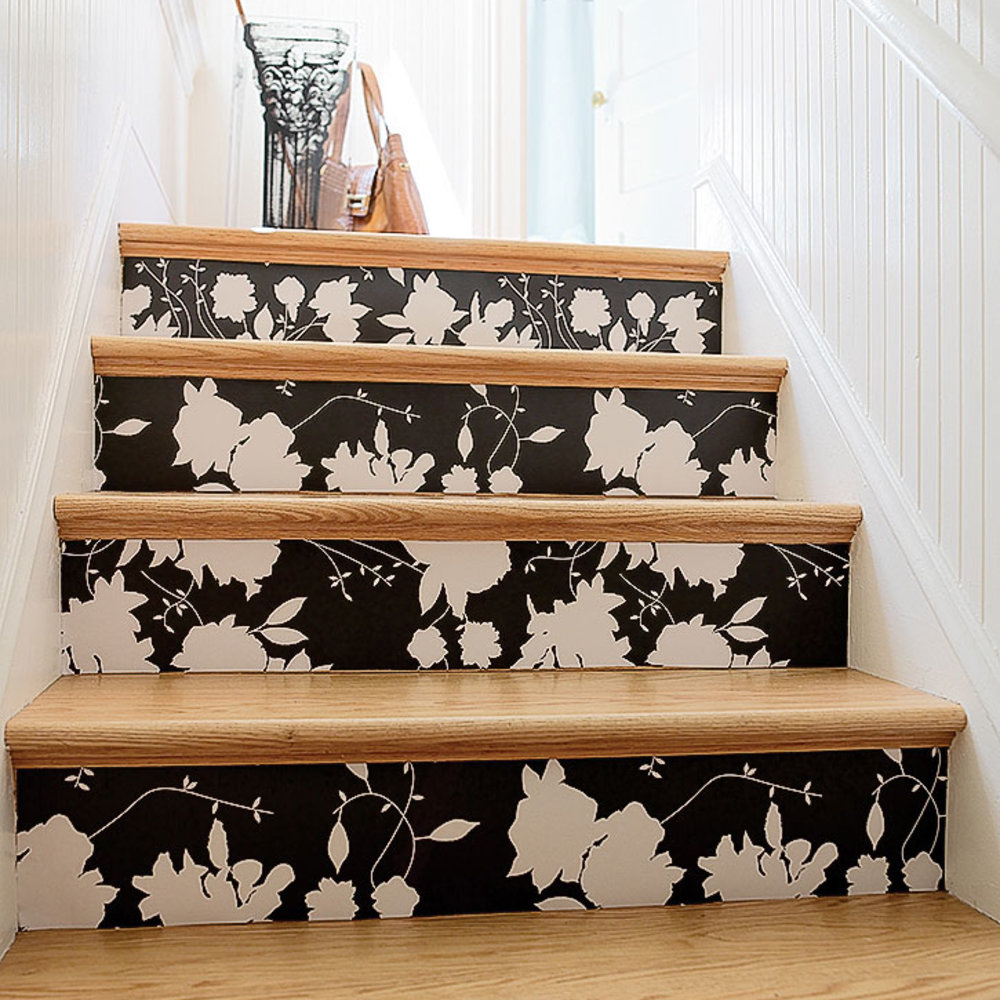 Wallpaper Stairs: How To Create Wallpapered Stairs