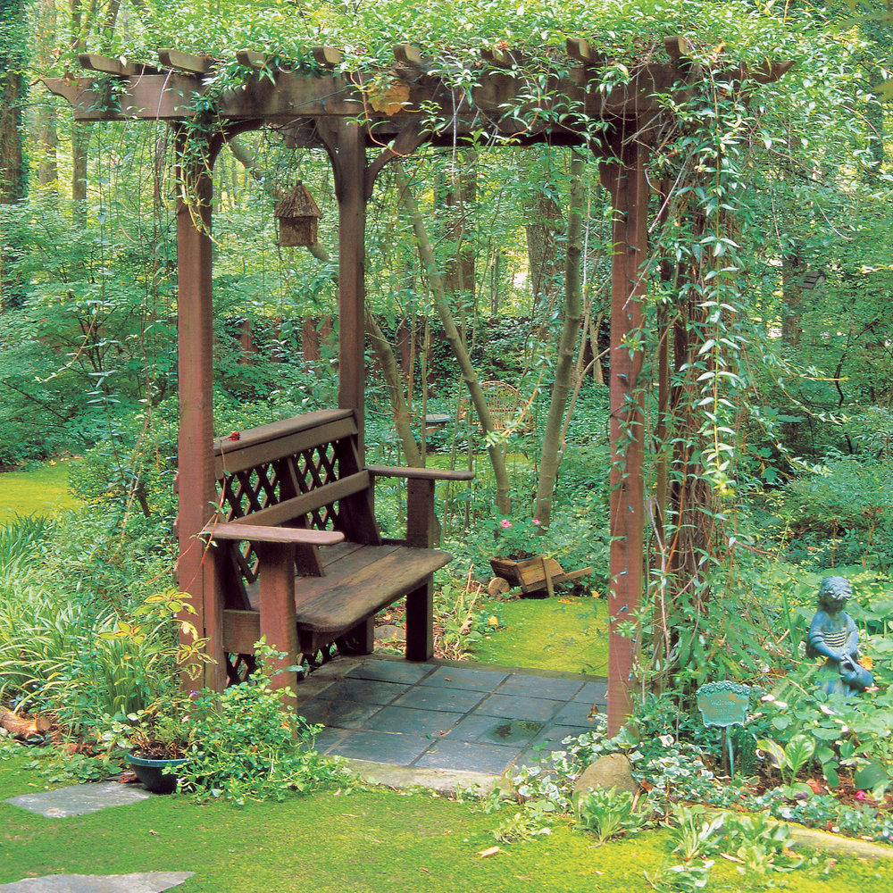 Make Your Own Shady Arbor Bench - Sunset Magazine