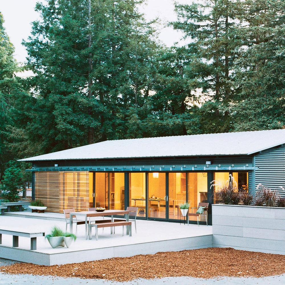 Meet the glidehouse a modern prefab sunset magazine Michelle kaufmann designs blu homes