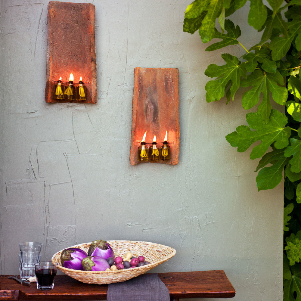Outdoor Sconce From Salvaged Tile Sunset Magazine
