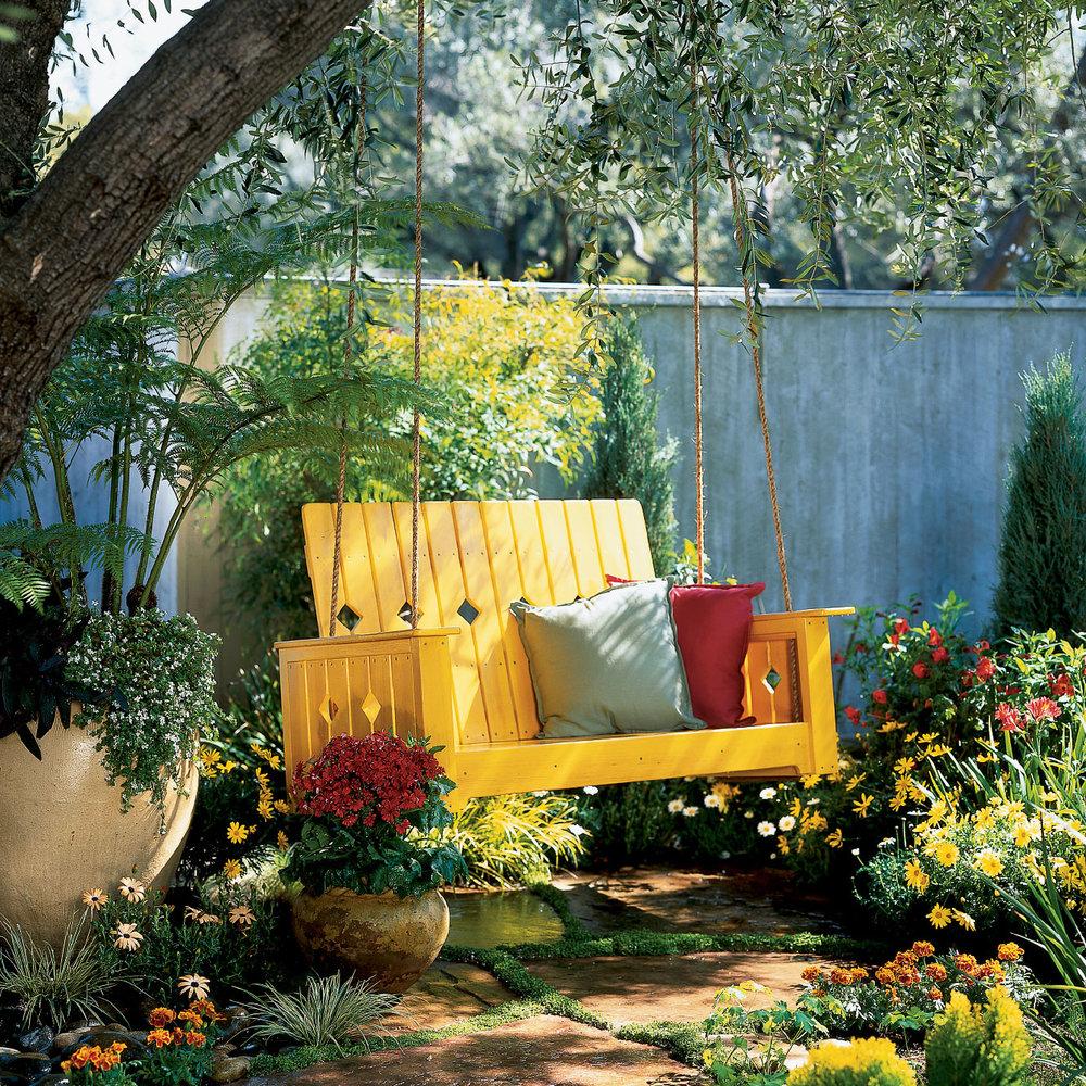 Fabulous DIY Garden Swing - Sunset Magazine ZB07