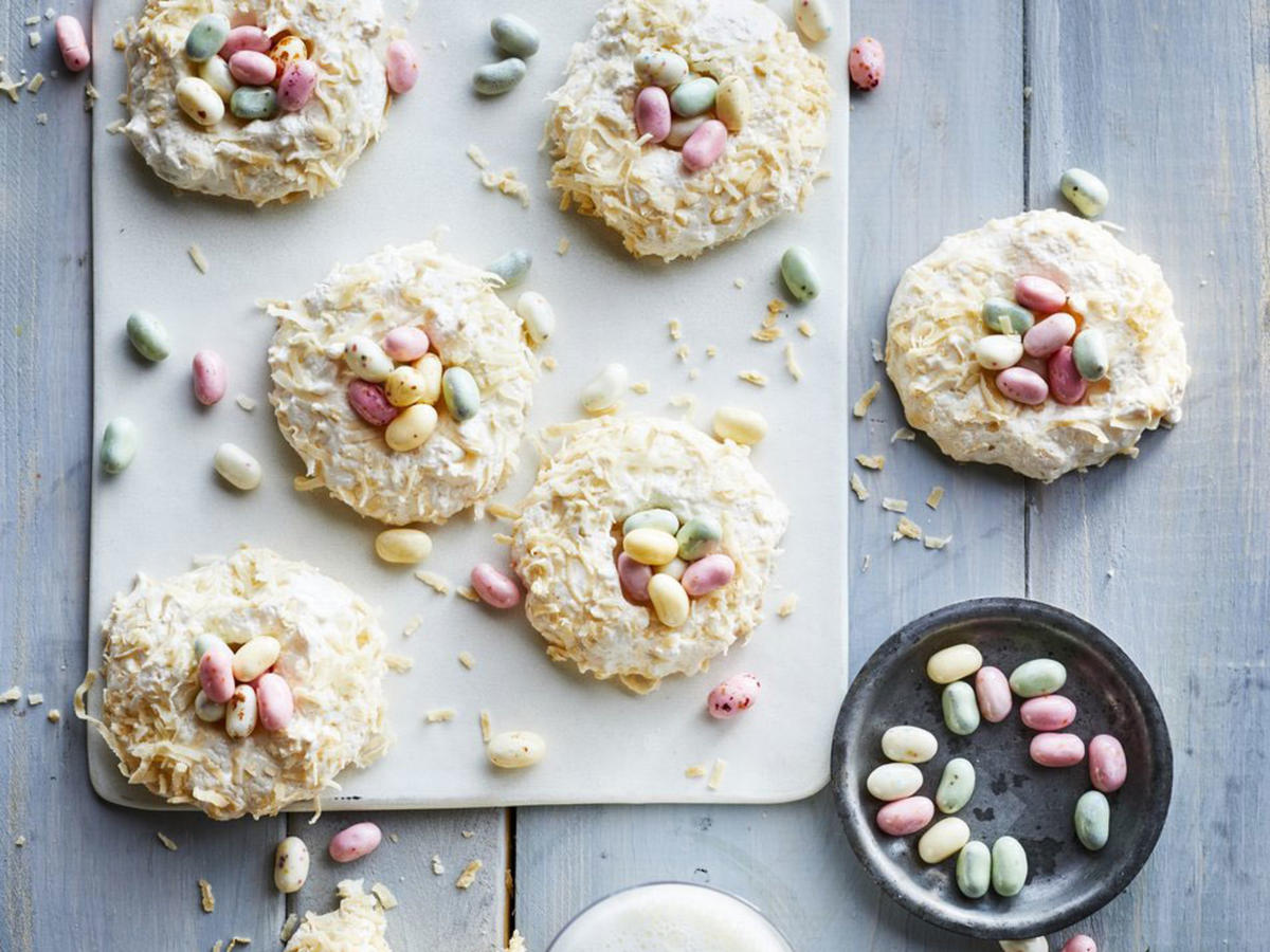 Coconut Nest Cookies Recipe - Sunset Magazine