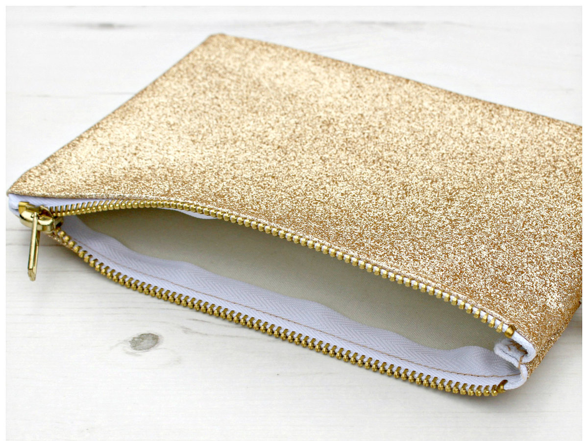 Lucy Made Me Gold Glitter Coin Purse