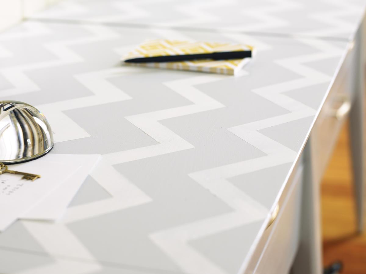Make A Tabletop Chevron Pattern Sunset Magazine