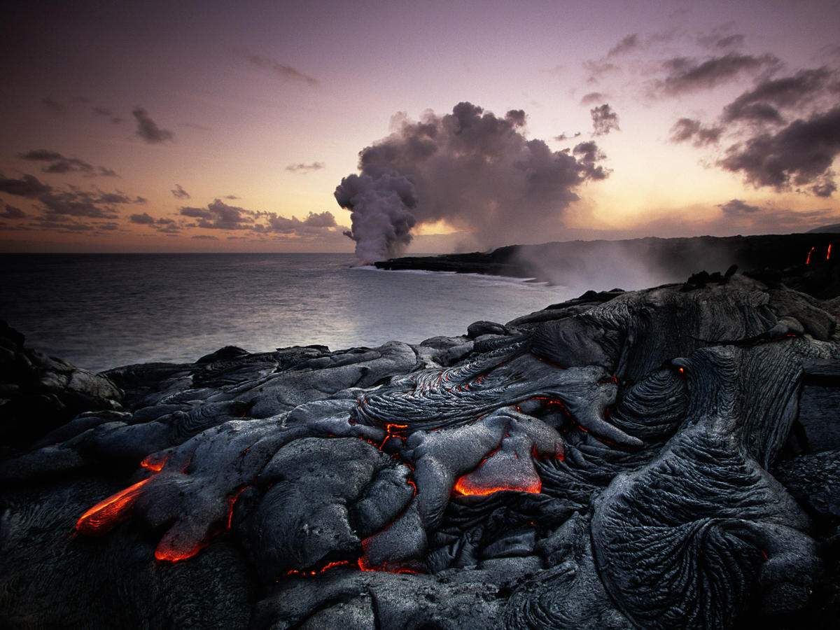 Watch Lava from This Hawaiian Volcano Set the Ocean on Fire