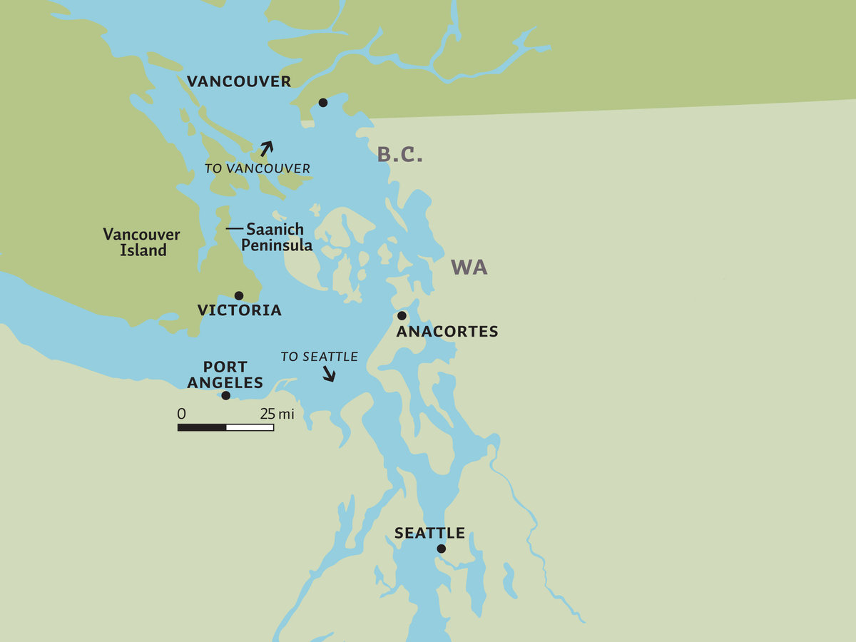 A map of Saanich Peninsula