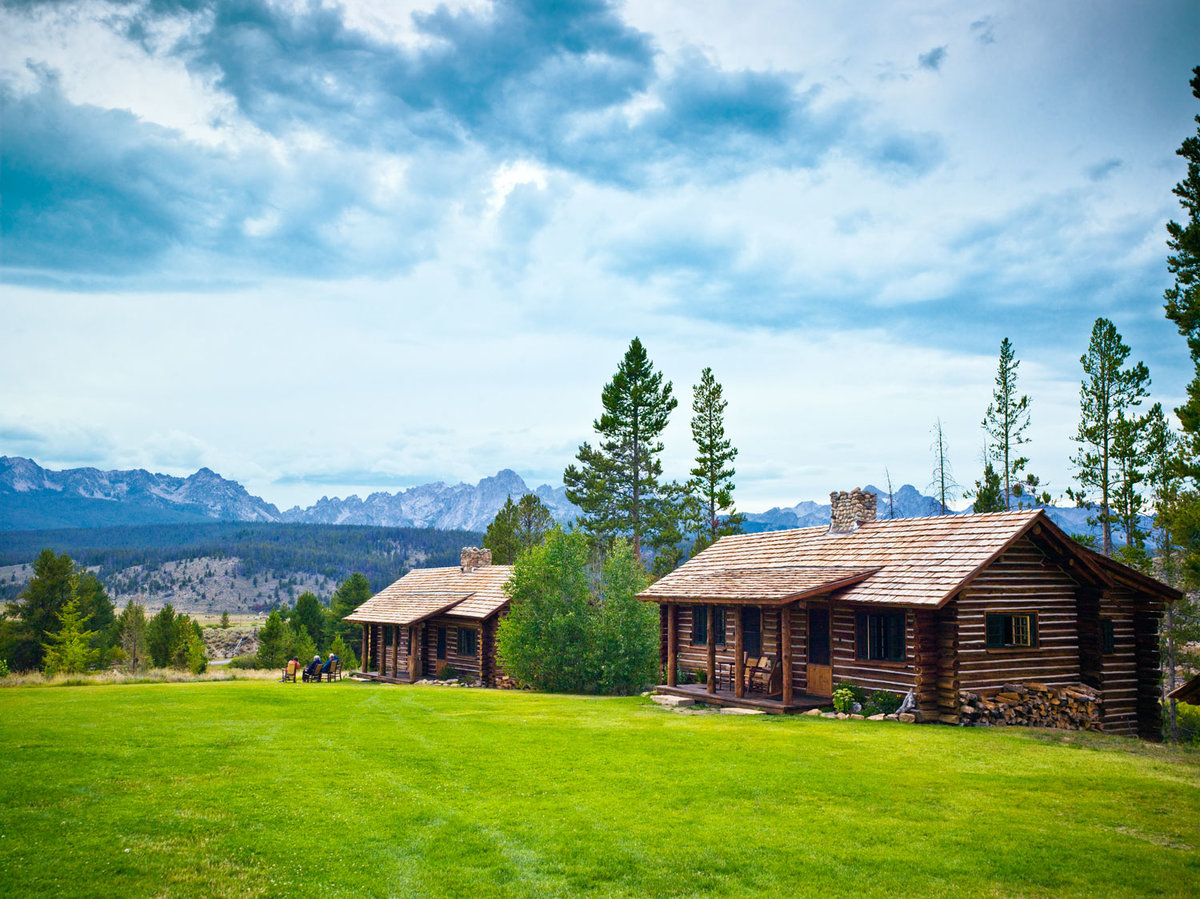 rustic-luxe cabins