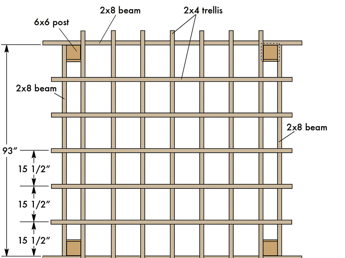 Square trellis plan