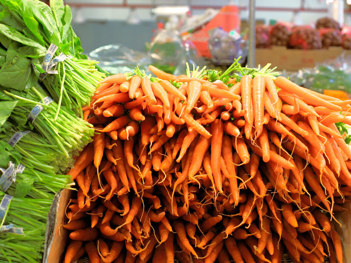 Market-fresh carrots