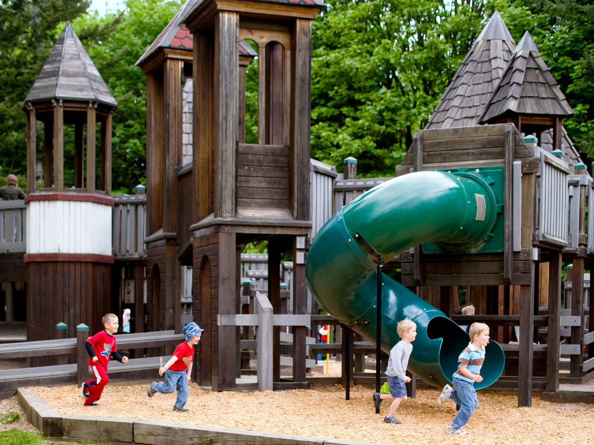 All-volunteer-built playground