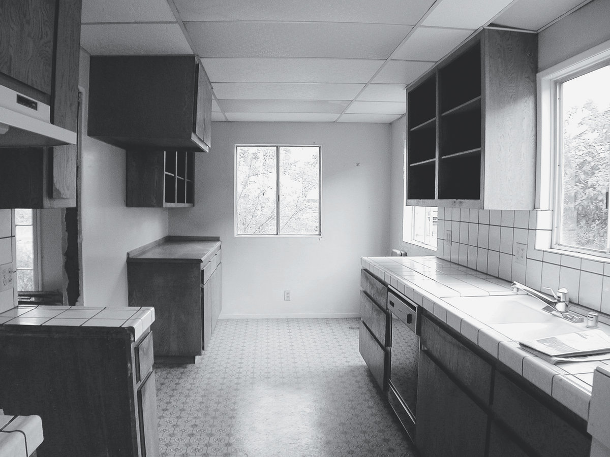 Before: Bold kitchen remodel
