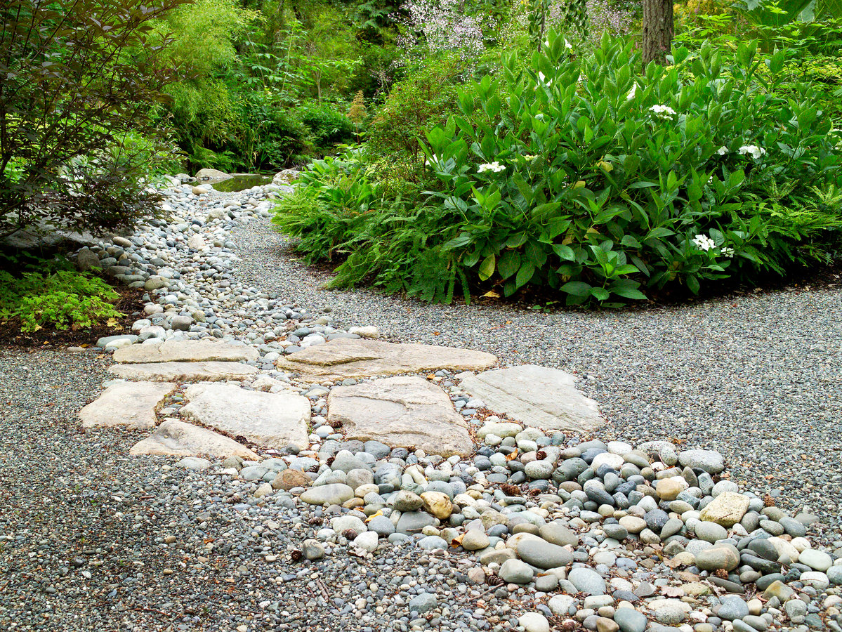 Gravel and stone - How To Landscape Gravel - Sunset Magazine