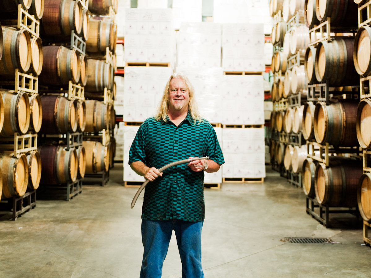 Winemaker Jim Clendenen at Au Bon Climat in Santa Maria Valley.