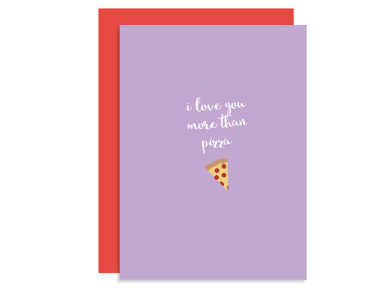 Pizza Valentine's card