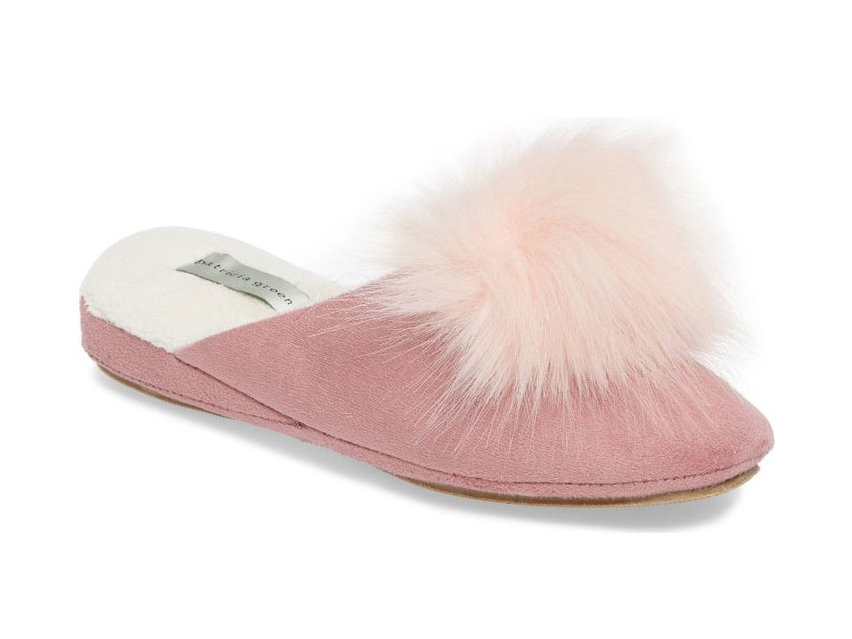 Patricia Green Pretty Pouf Faux Fur Slipper