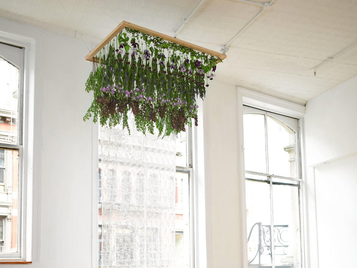 Hanging Floral Installation Wedding