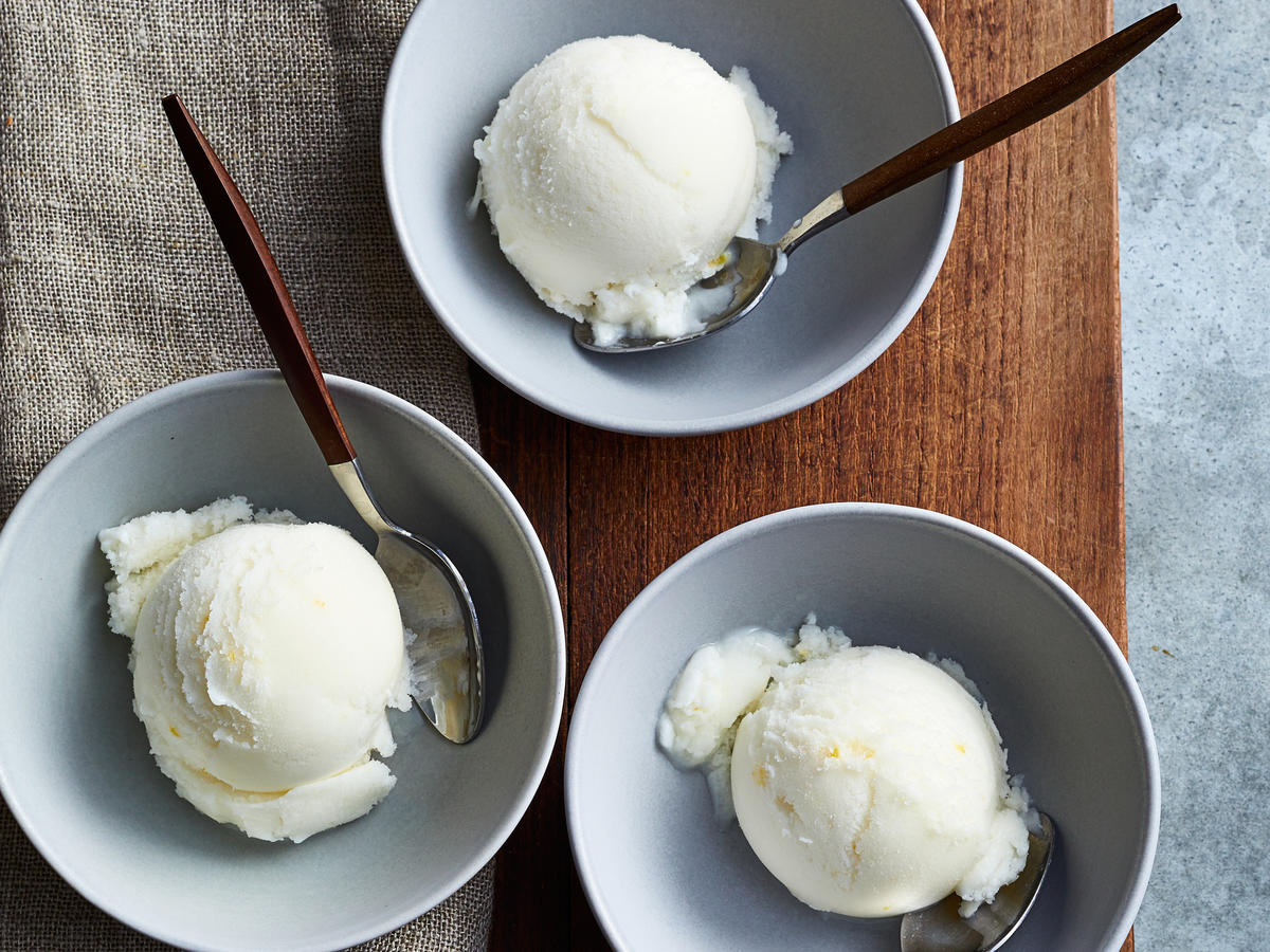 Meyer Lemon Sherbet