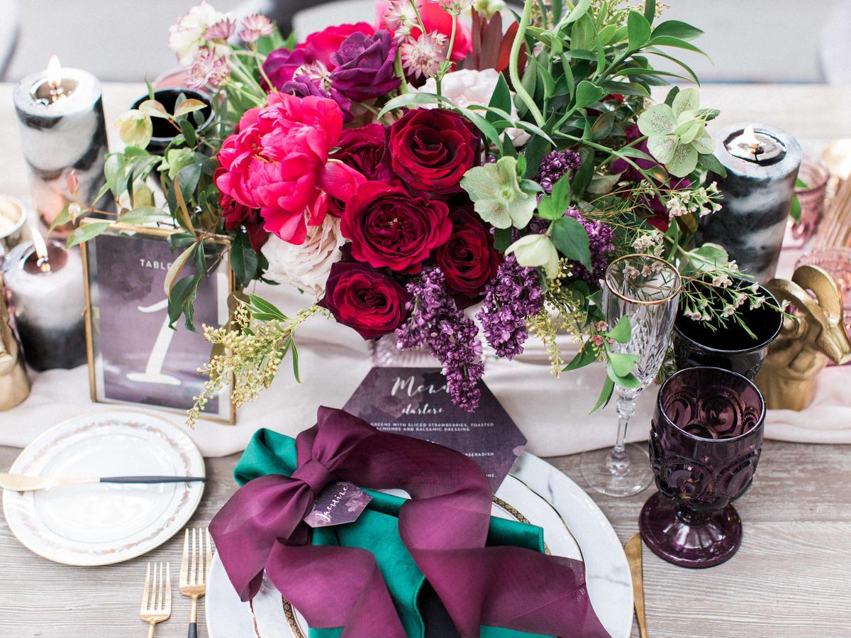 29ebcbb2f031 Jewel Tone Colors-Themed Wedding Ideas - Sunset Magazine