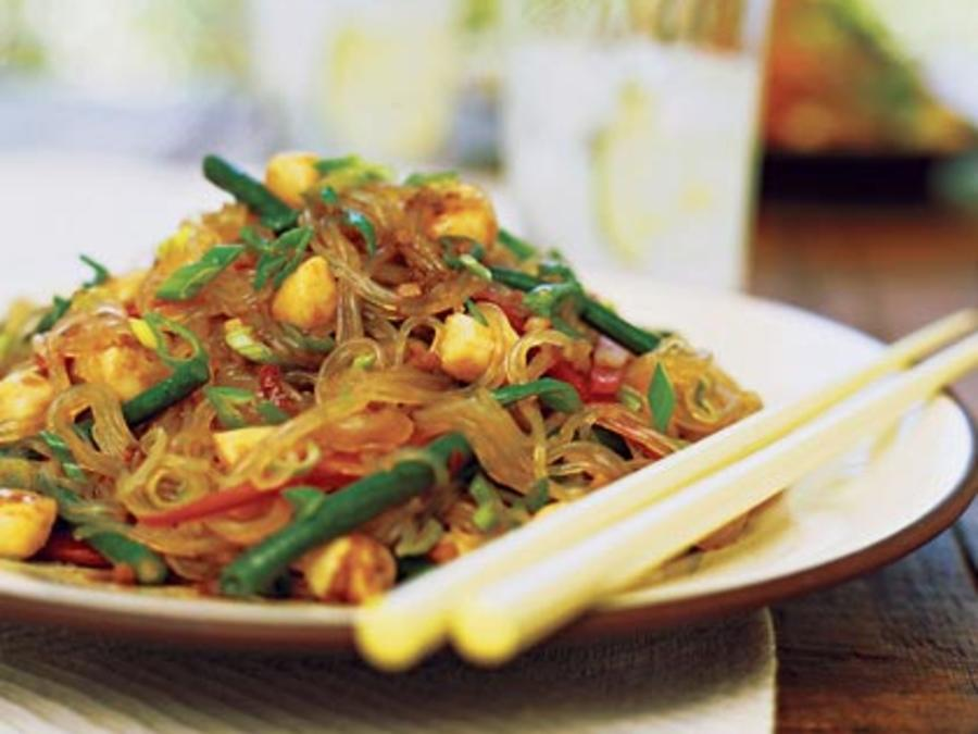 Spicy Scallop And Bean Thread Noodle Salad Recipe Sunset Magazine