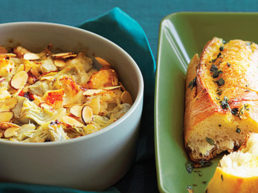 Warm Crab And Artichoke Dip With French Bread Recipe Sunset Magazine